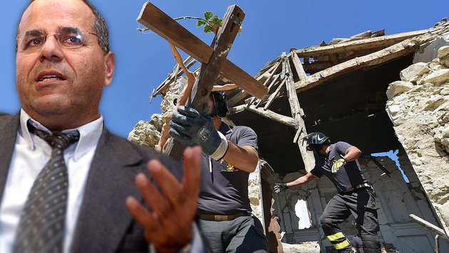 """Ayub Kara bezeichnete die Beben in Italien als """"Strafe Gottes"""". (Bild: APA/AFP/ALBERTO PIZZOLI, APA/AFP/LIOR MIZRAHI)"""