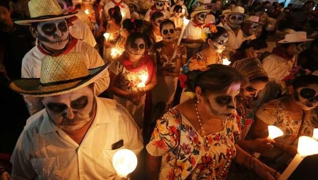"""Tag der Toten"" in Mexiko (Bild: APA/AFP/ALEJANDRO MEDINA)"