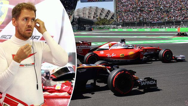 """Sebastian Vettel rastet aus: """"Fuck off, Charlie!"""" (Bild: AP)"""