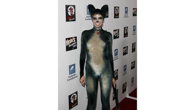 Als scharfes Kätzchen schlich Heidi Klum 2007 zu ihrer Halloween-Party. (Bild: Viennareport)