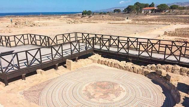 Unversehrt seit 2000 Jahren: die Mosaike in Paphos. (Bild: Eva Bianca Waculik)