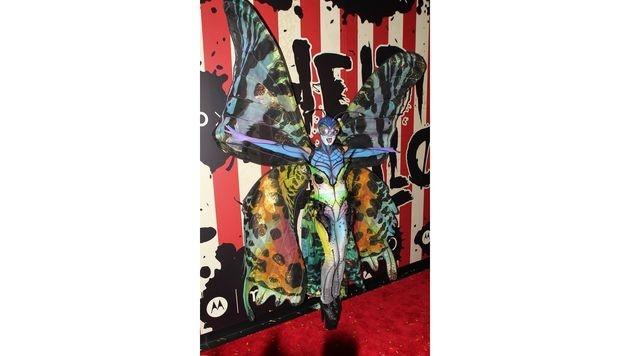2014 verwandelte sich Heidi Klum in einen bunten Schmetterling. (Bild: Viennareport)