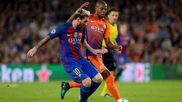 ManCity & Guardiola gegen Barcelona unter Druck (Bild: APA/AFP/JOSEP LAGO)