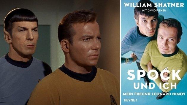 Leonard Nimoy und William Shatner alias Mister Spock und Captain Kirk (Bild: Viennareport, Heyne)