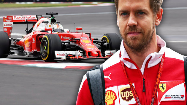 Vettel glaubt fest an WM-Titel mit Ferrari! (Bild: APA/AFP/ALFREDO ESTRELLA, GEPA)