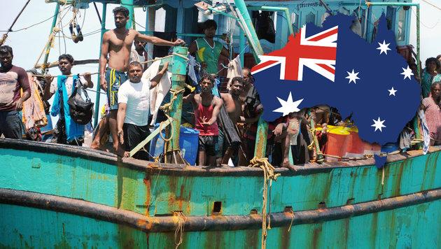 Wirbel um extremes Anti-Asyl-Gesetz in Australien (Bild: APA/AFP/CHAIDEER MAHYUDDIN, thinkstockphotos.de)
