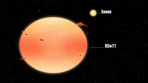 Astronomen entdecken extrem aktive 'Kürbis-Sterne' (Bild: NASA's Goddard Space Flight Center/Francis Reddy)