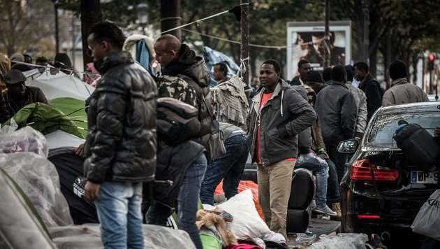 Dramatische Zustände in Paris (Bild: AFP)