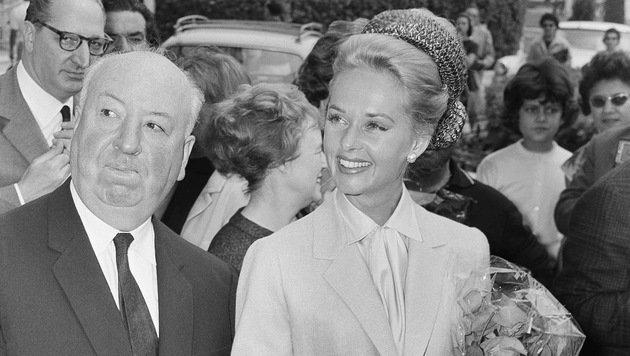 Alfred Hitchcock und Tippi Hedren in Cannes anlässlich der Filmfestspiele 1963 (Bild: Associated Press)