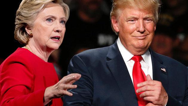 Hillary Clinton, Donald Trump (Bild: AFP/JEFF KOWALSKY, AP/Andrew Harnik)