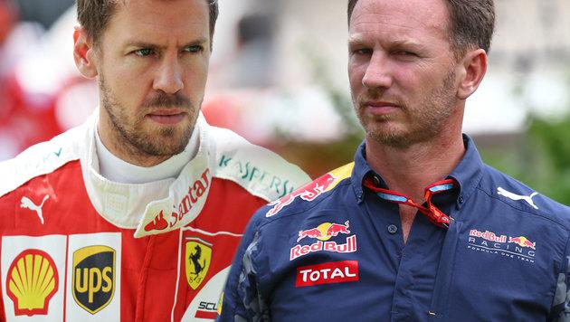 Horner fordert Strafe für wütenden Vettel (Bild: GEPA)