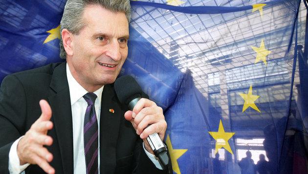 Oettinger: Die Skandal-Sager des EU-Kommissars (Bild: GERARD CERLES, APA/Peter Hautzinger)
