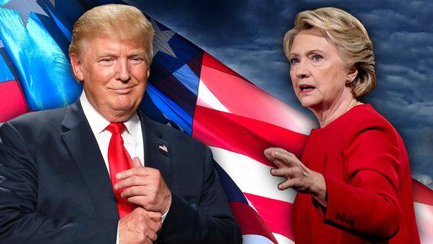 """Starke Hinweise"" auf Manipulation bei US-Wahl (Bild: AFP/JEFF KOWALSKY, AP/Andrew Harnik, thinkstockphotos.de)"