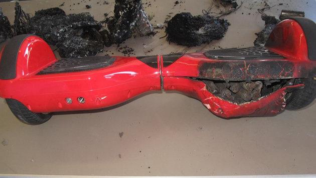Dieses Hoverboard ist für das Abbrennen der Fox-Residenz verantwortlich. (Bild: Nashville Fire Department)