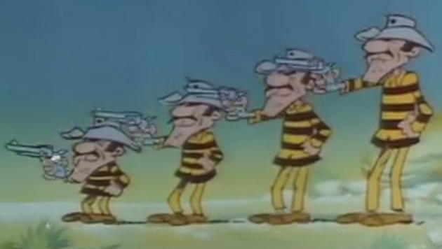 Die vier Dalton-Brüder (Bild: Screenshot/YouTube.com)