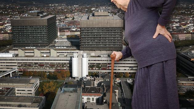 AKH: Frau (93) mit Knochenbruch Bewegung verordnet (Bild: APA/HELMUT FOHRINGER, thinkstockphotos.de)
