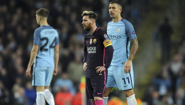 """""""Komm her, du Idiot!"""" Messi beleidigt City-Kicker (Bild: AP)"""