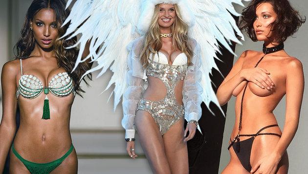 """So heiß sind die neuen Victoria""""s-Secret-Engel (Bild: instagram.com/bellahadid, Victoriaâ019s Secret)"""