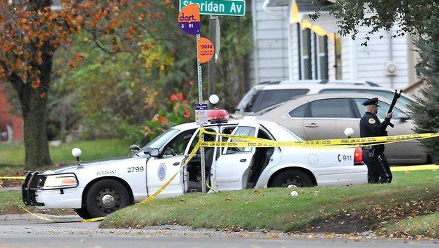 USA: Zwei Polizisten aus dem Hinterhalt erschossen (Bild: APA/AFP/Getty Images/Steve Pope)