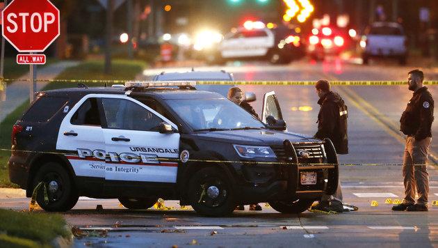 USA: Zwei Polizisten aus dem Hinterhalt erschossen (Bild: Associated Press)