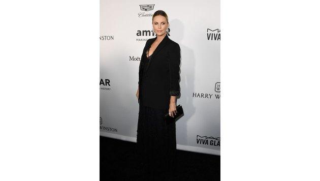 Bei der amfAR-Gala erschien sie in einem unförmigen weiten Kleid, um ihre Figur zu verstecken. (Bild: AFP or licensors)