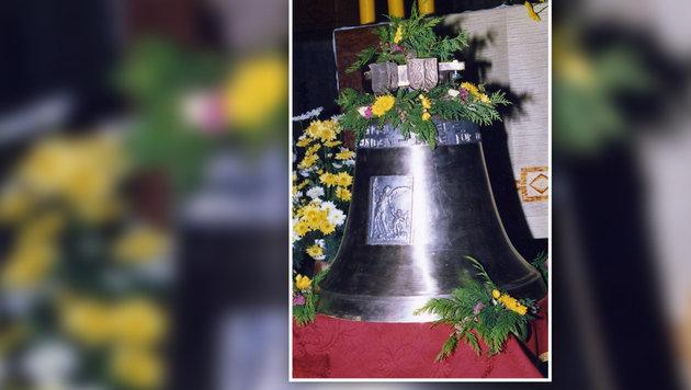 Unbekannte stahlen die 105 Kilogramm schwere Glocke. (Bild: APA/LPD NÖ)