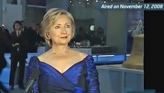 Eine Aufnahme von Hillary Clinton aus dem Jahr 2008 (Bild: Screenshot/YouTube.com)