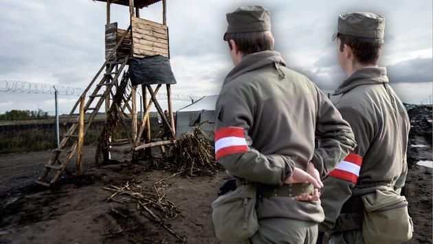 60 Bundesheer-Soldaten helfen jetzt in Ungarn aus (Bild: AP/Sandor Ujvari, APA/BARBARA GINDL)