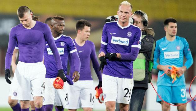 Austria Wien von AS Rom humorlos 4:2 abgefertigt! (Bild: APA/GEORG HOCHMUTH)