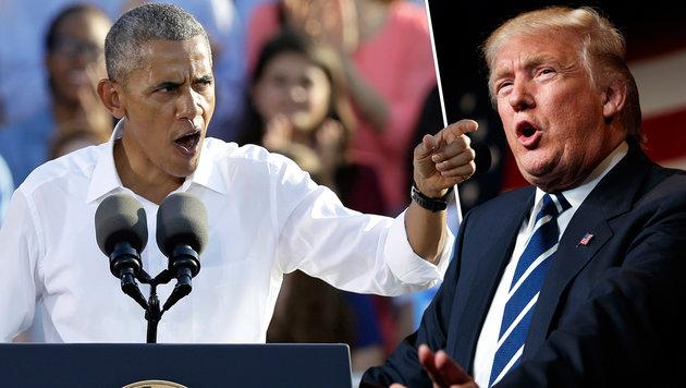 Sensation perfekt: Trump nächster US-Präsident (Bild: AP/Gerry Broome, AP/Evan Vucci)