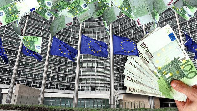 Ex-Kommissare kassieren von EU 100.000 € pro Jahr (Bild: GEORGES GOBET/AFP/picturedesk.com, thinkstockphotos.de)