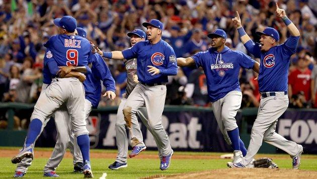 Historisch: Chicago Cubs gewinnen World Series (Bild: APA/AFP/GETTY IMAGES/ELSA)