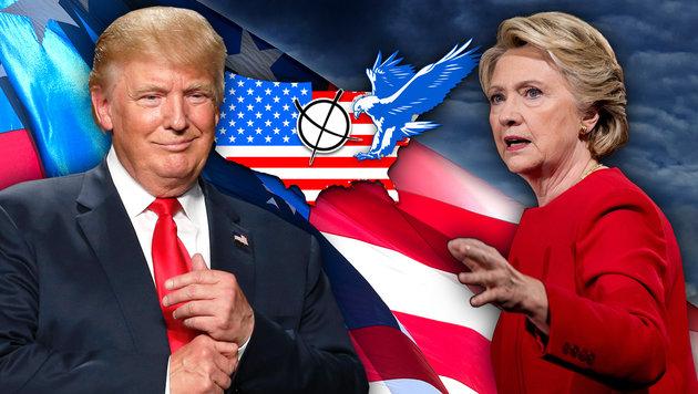"Trump: ""Clinton wäre eine gute Präsidentin"" (Bild: AFP/JEFF KOWALSKY, AP/Andrew Harnik, thinkstockphotos.de)"