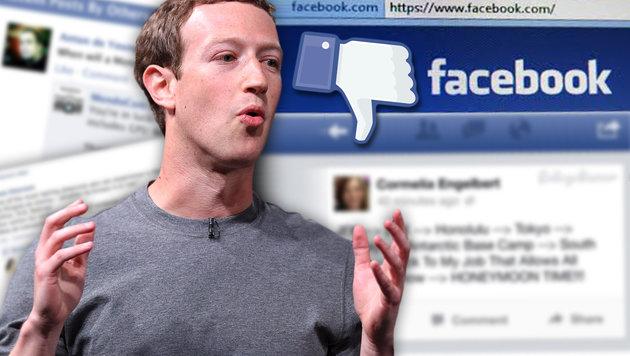 Deutsche Staatsanwälte ermitteln gegen Zuckerberg (Bild: APA/AFP/Lluis Gene, facebook.com)