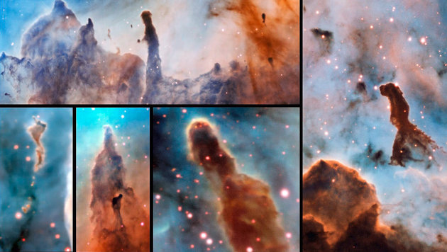 "ESO-Teleskop fotografiert ""Säulen der Zerstörung"" (Bild: ESO/A. McLeod)"