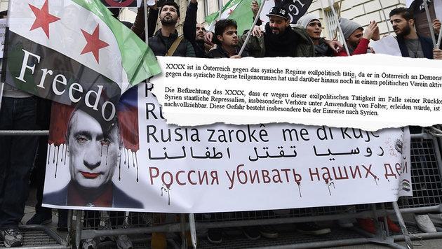 "Keine Abschiebung wegen Demo-Teilnahme in Wien (Bild: APA/HELMUT FOHRINGER, ""Krone"")"