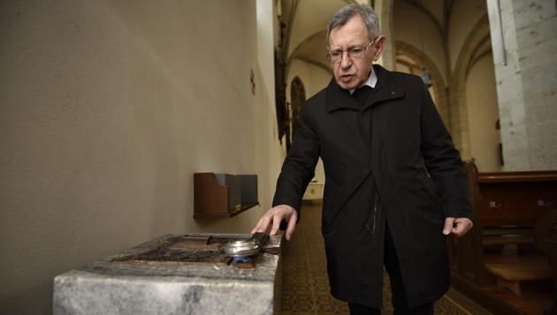 Pater Leo Fürst stellte das Einbrecher-Duo und konnte einen der mutmaßlichen Täter festhalten. (Bild: Imre Antal)