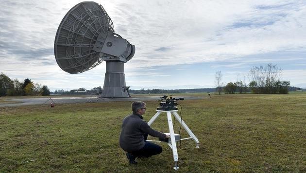Weltrekord in Datenübertragung per Laser (Bild: DLR/Bernd Müller)