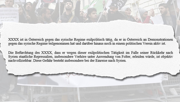 """Keine Abschiebung wegen Demo-Teilnahme in Wien (Bild: """"Krone"""")"""