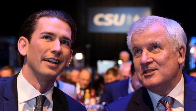 Kurz und Seehofer (Bild: AFP)