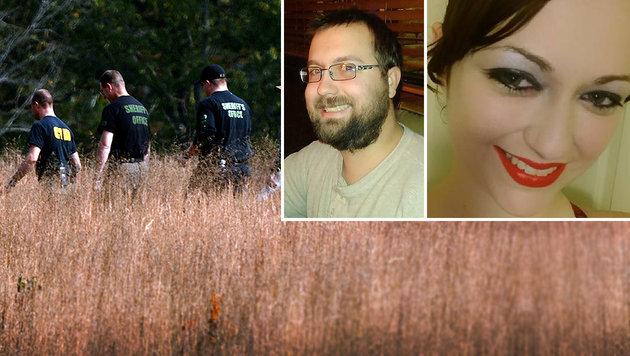 Kala Brown (re.) wurde gerettet, ihr Freund Charlie Carver (Mitte) dürfte ermordet worden sein. (Bild: AP, facebook.com)
