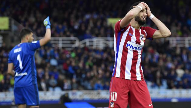 Atletico Madrid verpasst Sprung an Tabellenspitze (Bild: AP)