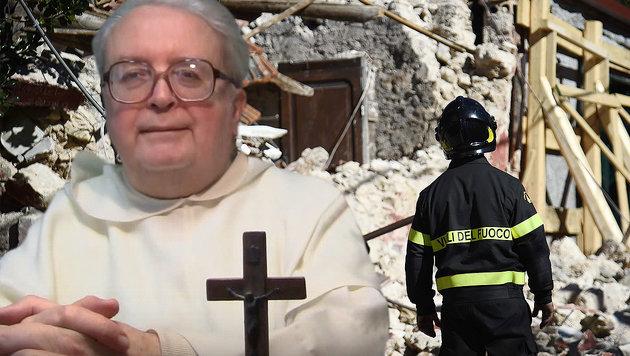 "Italienischer Priester: ""Beben war Strafe Gottes"" (Bild: AFP, YouTube.com)"