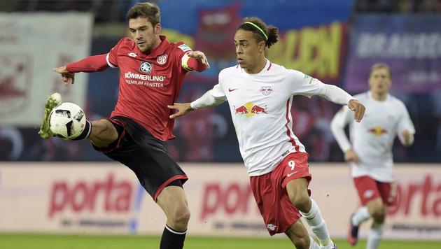 RB Leipzig nicht zu stoppen! 3:1-Sieg gegen Mainz (Bild: AP)