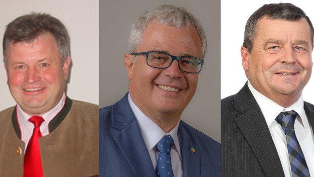 "Ortschefs Herbert Lehner (Steegen), Wolfgang Oberlehner (Peuerbach),Peter Sattlberger (Bruck-Waasen) (Bild: ""Krone"")"
