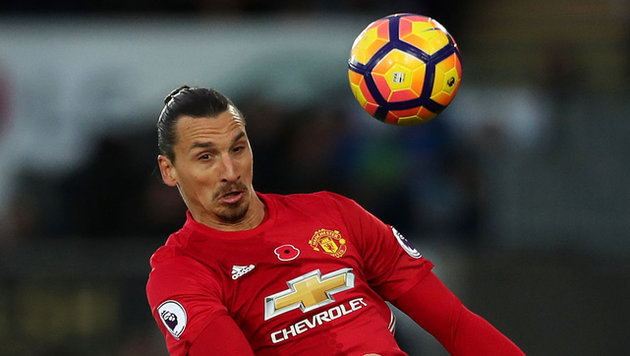 Ibrahimovic macht 25.000 Tor in Premier League (Bild: AP)