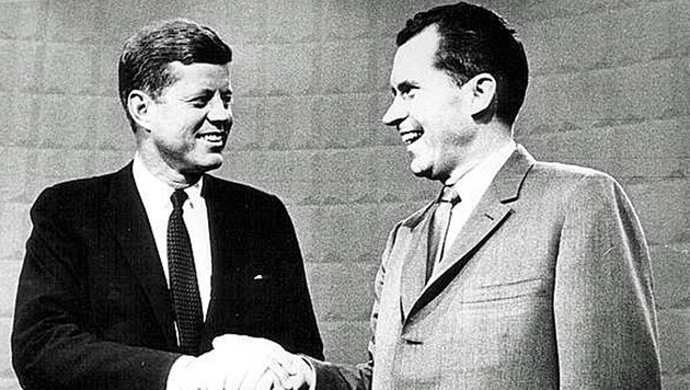 1960: Demokrat John F. Kennedy (li.) setzt sich gegen den Republikaner Richard Nixon durch. (Bild: Screenshot/kennedy.org)