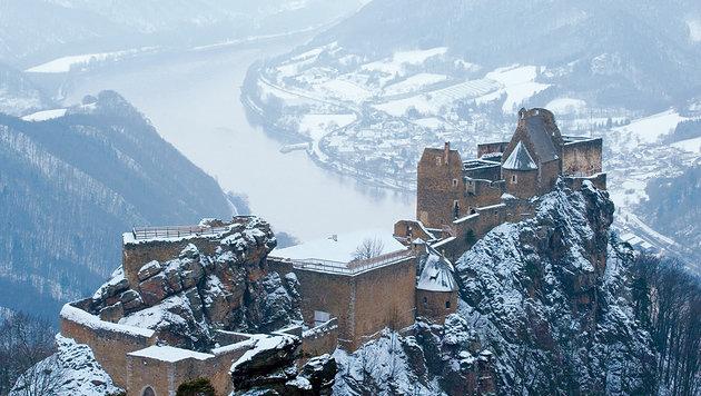 Beeindruckendes Wahrzeichen der Wachau: die Burgruine Aggstein. (Bild: Winterbild Aggstein)