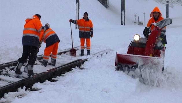 Schneeräumung in Salzburg (Bild: ÖBB)