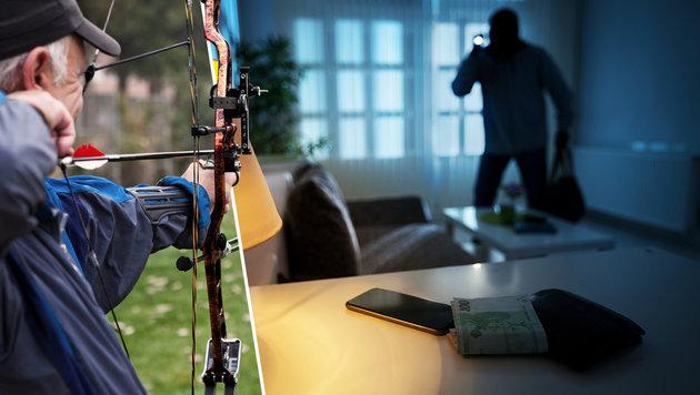 Bogenschütze (68) trifft Einbrecher in den Hintern (Bild: thinkstockphotos.de (Symbolbild))